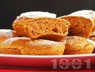 Кексчета с варена тиква и орехи